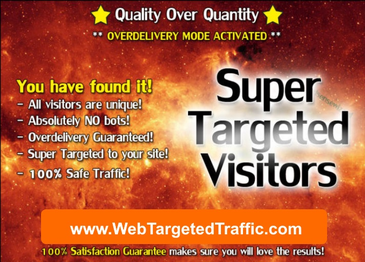 GUARANTEED VISITORS vs. GUARANTEED TARGETED CLICKS